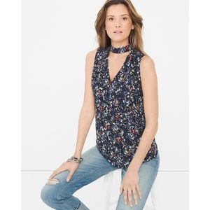 WHBM | Floral Mock-Neck Top